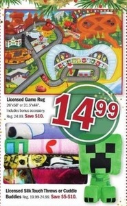 Licensed Game Rug & Silk Touch Throw Buddies