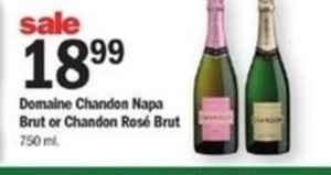 Domaine CHandon Napa Brut or Chandon Rose Brut