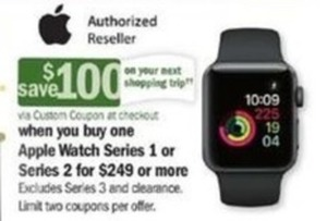 Apple Watch Series 1 & 2 + $100 Off Next Shopping Trip