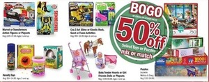 Select Toys or Puzzles