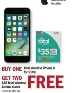Buy One Total Wireless iPhone 6 for $199, Get Two $35 Total Wireless Airtime Cards Free