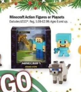 Minecraft Action Figures Or Playsets