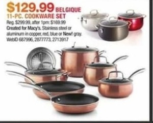 Belgique Stainless Steel 11-Pc. Cookware Set