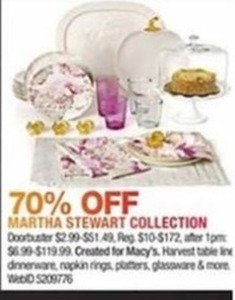 Martha Stewart Harvest Collection