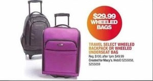 Travel Select Wheeled Backpack Or Wheeled Underseat Bag
