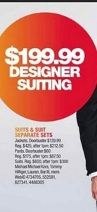 Suits & Suit Separate Sets