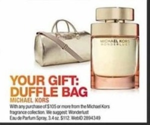 Duffle Bag w/Purchase of $105 or more from Michael Kors Fragrance