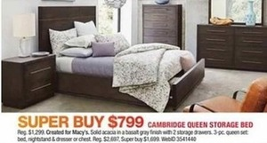 Cambridge Queen Storage Bed
