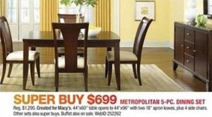 Metropolitan 5-pc. Dining Set