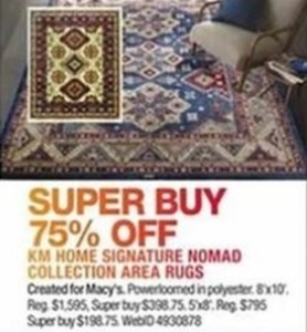KM Home Signature Nomad Collection Area Rugs