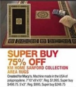 KM Home Sanford Collection Area Rugs