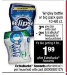 Wrigley Bottle or Big Pack Gum w/ Card