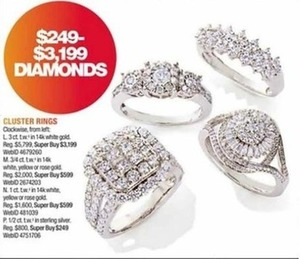 Cluster Diamond Rings