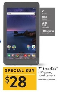 "7"" SmarTab w/ 16GB Storage"