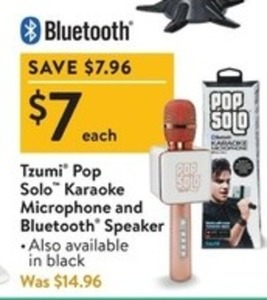 Tzumi Pop Solo Karaoke Microphone & Bluetooth Speaker