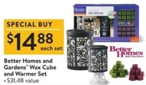 Better Homes & Gardens Wax Cube & Warmer Set