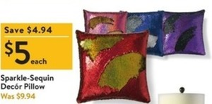 Sparkle Sequin Decor Pillow