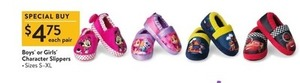 Kids' Character Slippers