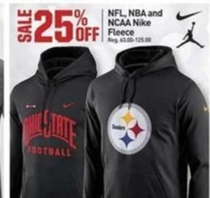 NFL, NBA, and NICAA Nike Fleece
