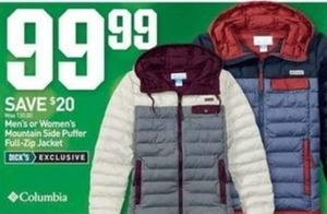 Men's or Women's Mountain Side Puffer Full-Zip Jacket