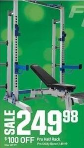 Pro Half Rack Utility Bench