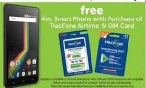 "4"" Smart Phone w/ TracFone Airtime & SIM Card"