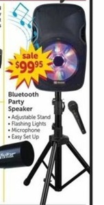 Bluetooth Party Speaker w/Adjustable Stand