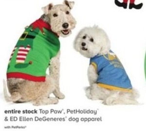 Entire Stock Top Paw, PetHoliday & ED Ellen DeGeneres Dog Apparel
