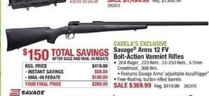 Savage Arms 12 FV Bolt-Action Varmint Rifles - After Rebate