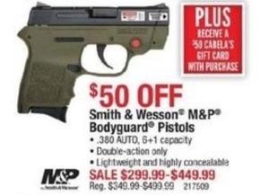 Smith & Wesson M&P Bodyguard Pistols