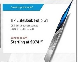 HP EliteBook Folio G1 Laptop