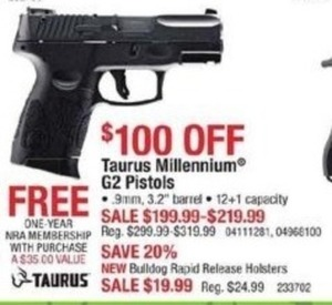 Taurus Millenium G2 Pistols