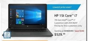 HP 15t Core i7 Laptop