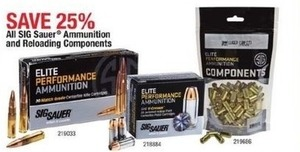 All SIG Sauer Ammunition and Reloading Components