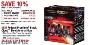 Federal Premium Black Cloud Steel Ammunition - After Rebate