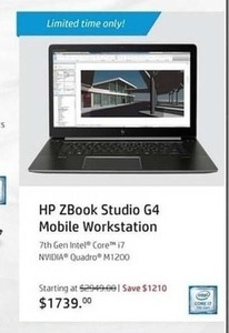 HP Book Studio G4 Mobile Workstation