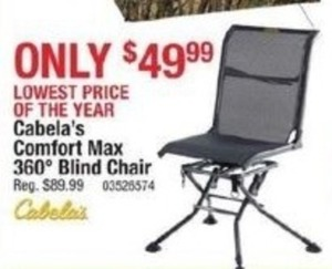 Cabela's Comfort Max 360 Degree Blind Chair