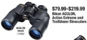 Nikon ACULON, Action Extreme and Trailblazer Binoculars