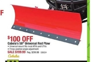 "Cabala's 50"" Universal Red Plow"