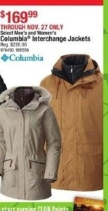 Select Men's & Women's Columbia Interchange Jackets