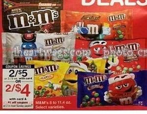 M&M's w/ Card