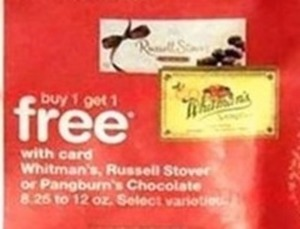 Whitman's, Russel Stover, or Pangburn's Chocolate w/ Walgreens Card