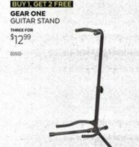 Buy One, Get Two Free Gear One Guitar Stands