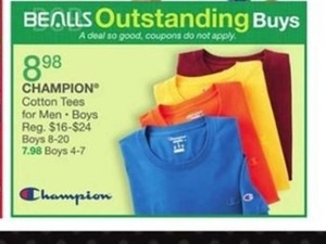 Champion Cotton Tees For Boys