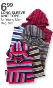 Long Sleeve Knit Tops for Young Men