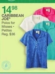 Caribbean Joe Polos for Misses & Petites