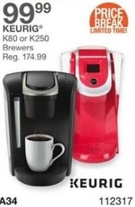Keurig K80 or K250 Brewers