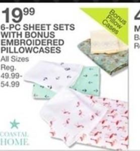 Coastal Home 6-Pc Sheet Sets