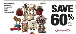 60% Off Holiday Home Ornaments