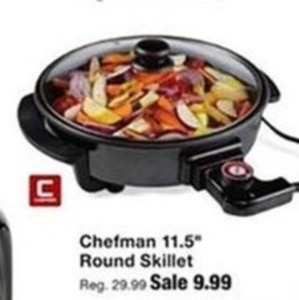 """Chefman 11.5"""" Round Skillit"""
